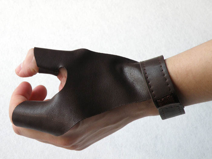 Glove made of cowhide