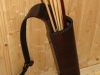 Back quiver with a special tightening system