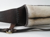 Back quiver from leather with a sheep wool