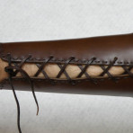 Armguard made of leather (with leather string)