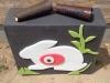 """Zielscheibe """"Mittelquadrat"""" mit einem Hase"""