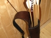 Back quiver with a decorative lily type 2
