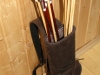 Elliptical back quiver with a bag for small things