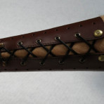 Armguard made of leather (with elastic band)