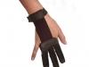 Rukavica kožená s vloženým elastickým pásom